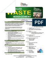 Scheduled and Chemical Waste Management Public Program Course Brochure by ITrainingExpert 2015
