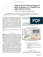 Scientific Investigation of the Environmental Impact of Mines Using Geospatial Techniques over a Small Part of Keonjhar District of Orissa