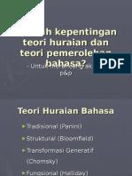 Teori Huraian Dan Pemerolehan Bahasa