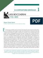 Semblanzas de Compositores Españoles Luigi Boccherini