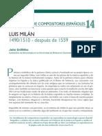 Semblanzas de Compositores Españoles Luis Milán