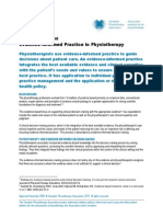 Evidence Informed Practice Position Statement English