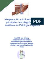 S3. Interpretación e Indicación de Los Principales Test Diagnósticos y Analíticos en Patología Hepática