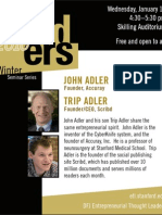 Poster for DFJ Entrepreneurial Thought Leaders Talk at Stanford