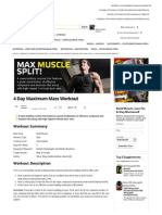 4 Day Maximum Mass Workout _ Muscle & Strength