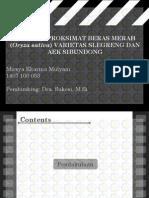 Presentasi Analisis Proksimat Beras Merah (Oryza Sativa) Varietas Slegreng Dan Aek Sibundong