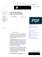 4 Surprising Ways to Help You Build Wealth - Yahoo Finance
