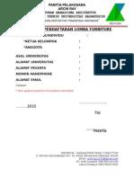 Formulir Pendaftaran Lomba Furnitur