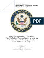 Republican Staff Report on A.I.G. Bailout