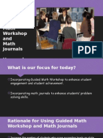 guided math workshop and math journals presentation