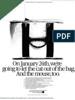 Apple ad, Wall Street Journal, January 19, 1984