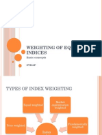 Weighting of Equity Indices, BF, MA