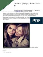 Cara Delevingne va Kate Moss quảng cao cho nước hoa mới của Burberry