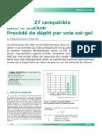 010 - Maté Matériau PZT compatible ac silicium Procédé dépôtriau PZT Compatible Ac Silicium Procédé Dépôt..
