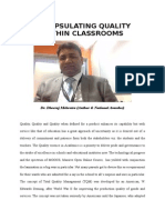 Encapsulating Quality Within Classrooms