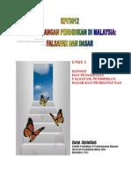 KPF3012 NOTA UNIT 1 KONSEP DAN PENGERTIAN FALSAFAH, PENDIDIKAN, DASAR DAN PEMBANGUNAN.pdf
