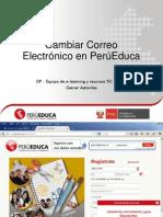 Cambiar Correo en Perueduca