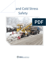 OSHA Heat Abd Cold Stress Safety