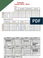 Calendar Scolar 2014-2015