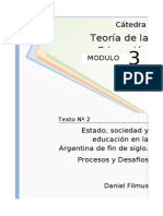 134768098 1238307782 02 Filmus Estado Sociedad y Educacion en La Argentina