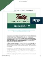 Tally Erp 9 It Assignment