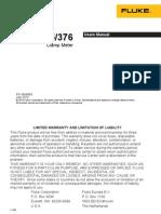 Manual Fluke 376 Pinza Amperometrica (Ingles)
