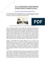 D´URSO PASSA A INTEGRAR COMUNIDADE DE JURISTAS DE LÍNGUA PORTUGUESA