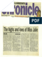 Theatre Review Miss Julie