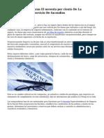 Aseguradoras Pagaran El noventa por ciento  De La Implantacion Del Servicio De Incendios