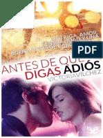 Antes Que Digas Adios - Victoria Vilchez