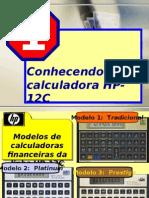 Detalhes da HP 12 C.