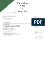 Aditya Tcs Resume