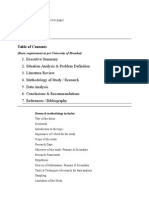 Dissertation Requirements for project