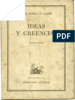 Ideas y Creencias Ortega y Gasset