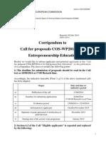 Call Entredu Corrigendum