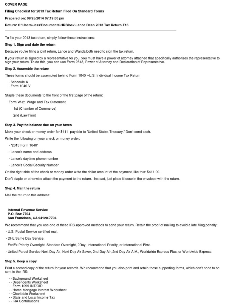Uncategorized State And Local Income Tax Refund Worksheet lance dean 2013 tax return t13 for records irs forms income in the united states