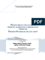 Profitability Analysis - Cost Accounting