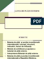 TEMA 2. Balanta de Plati Externe NOUA