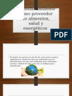 El Medio Ambiente Como Proveedor de Alimentos