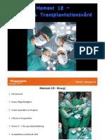 Moment 18 - Kirurgi & Transplantationsvård