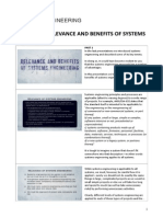 2.2 – Relevance and Benefits of Systems Engineering
