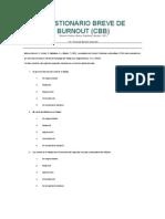 Cuestionario Breve de Burnout