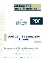 Auditing and Assurance Standards