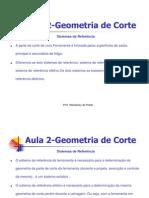 Aula 2 - Geometria de Corte
