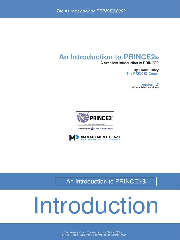 introduction prince2 precourse en project management product rh scribd com PRINCE2 ManualDownload PRINCE2 Exam Questions