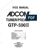 Adcom GTP-500II Service Manual