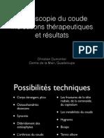 4_A°scopie coude - indications - résultats