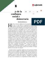 La Jornada- Crisis de La Confianza Social y Democracia