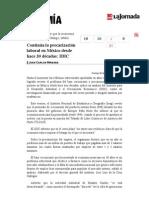 La Jornada- Continúa La Precarización Laboral en México Desde Hace 30 Décadas- IDIC