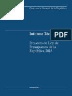 Informe Tecnico Presupuesto 2015 - Contraloria